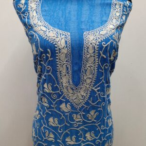 Blue Berry Embroidered Kashmiri Suit