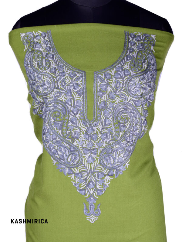 Rashm - Green Embroidered Kashmiri Suit 1