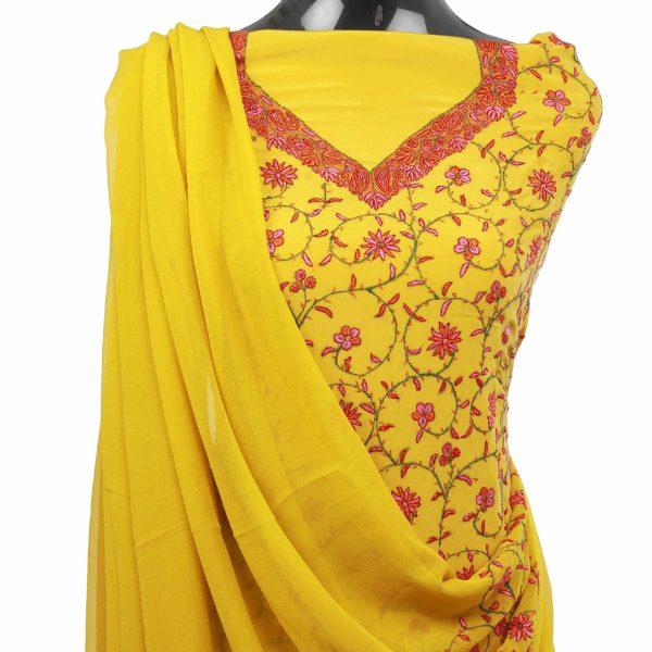 Kashmiri Yellow Suit