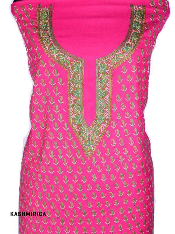 Pink Jamawar Suit (2)