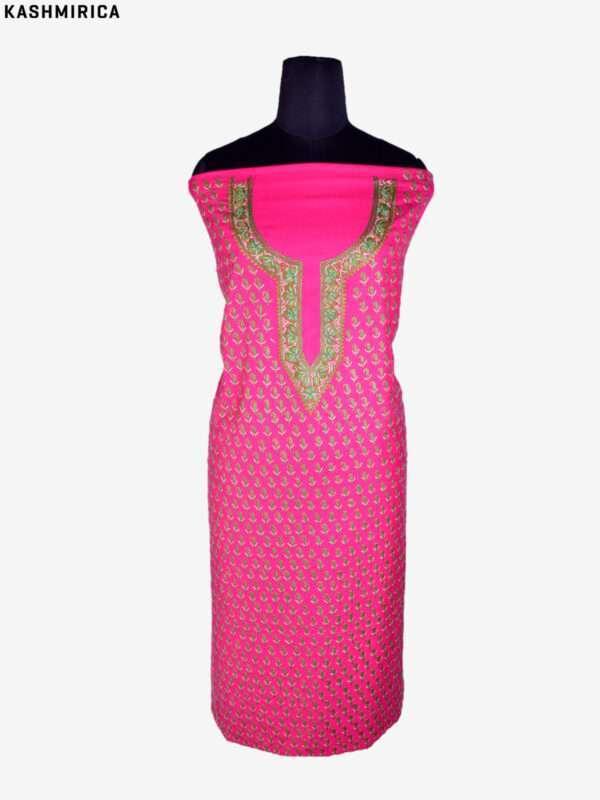 Pink Jamawar Suit (6)