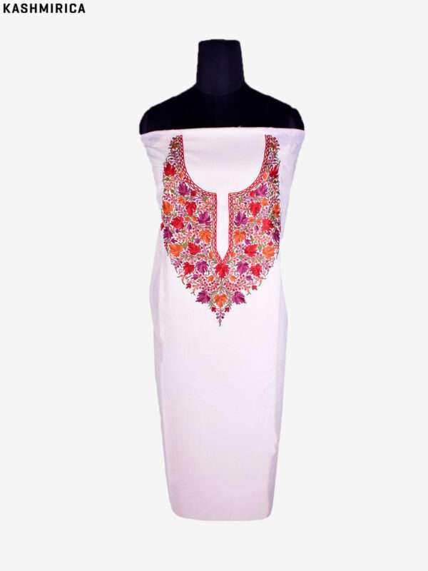 Bast - White Kashmiri Suit [Hand Aari] 1