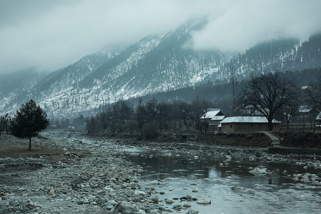 Shot from a Village in Kashmir