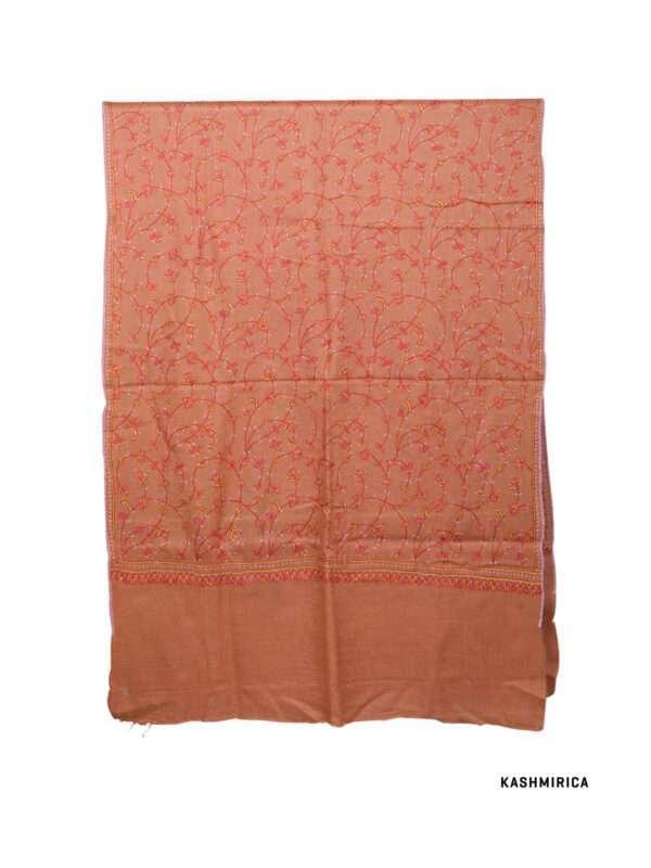 Orange Kashmiri Stole [Fine Wool & Sozni]