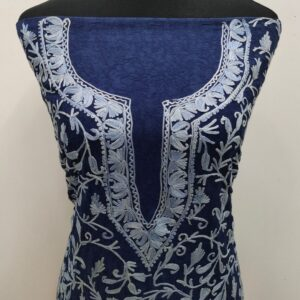 Blue Embroidered Kashmiri Suit