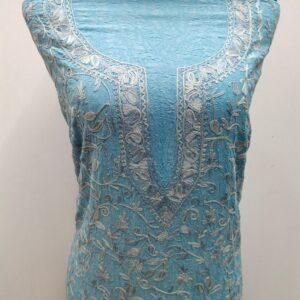 Sky Blue Kashmiri Suit Design