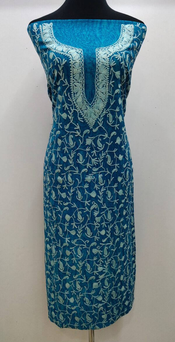 blue kashmiri suit design