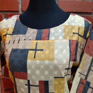Kurti with Geometric Patterns
