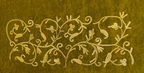 Mustard Yellow Kashmiri Design