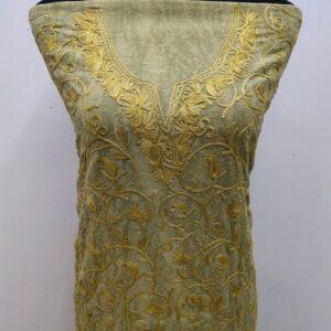 Khaki Kashmiri Suit