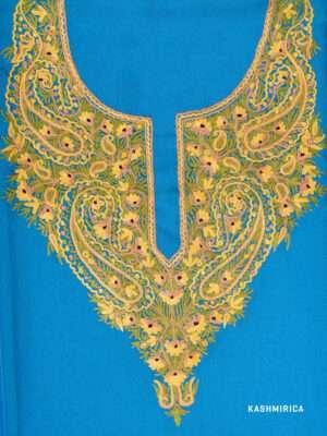 Ferozi Aari Work Kashmiri Suit