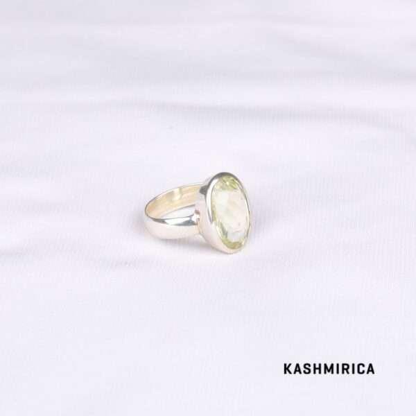 Abbas Ring [Lemon Topaz] White
