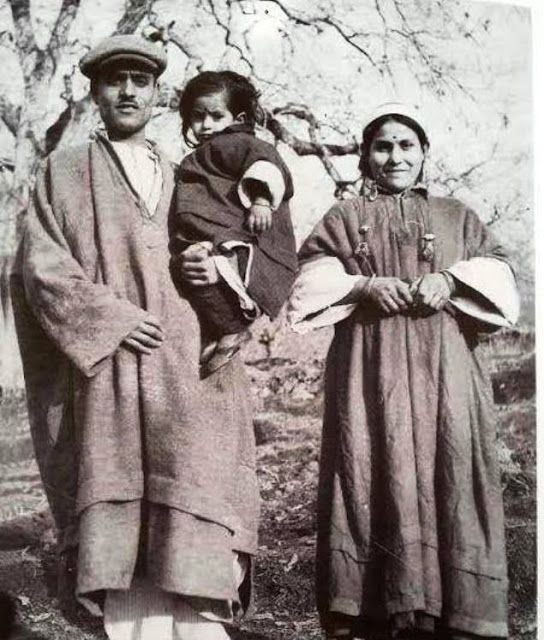 Traditional Wear of a Kashmiri Family