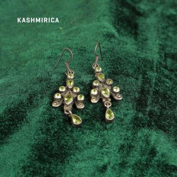 Arya Earrings Green