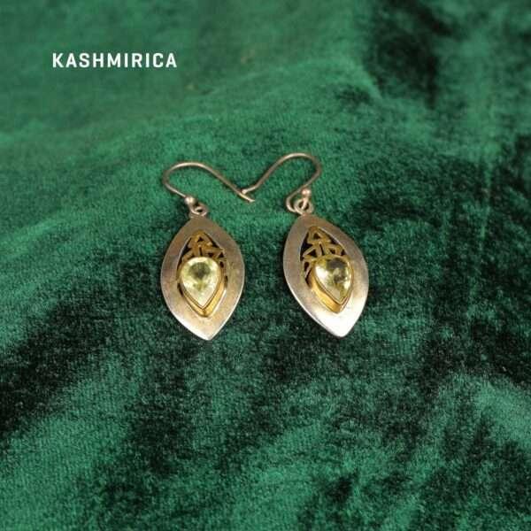 Basir Earrings Green