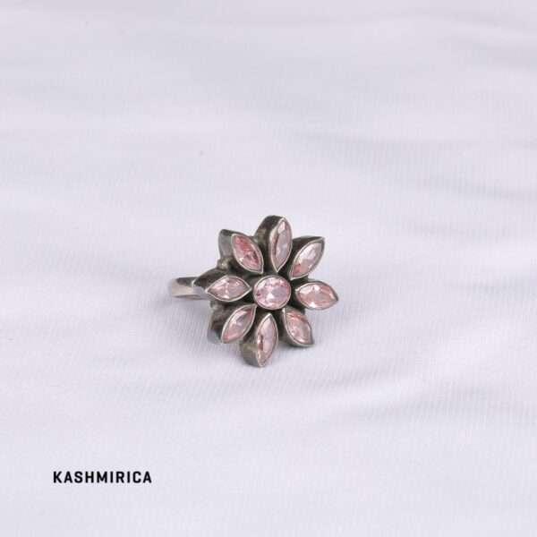 Farah Ring [CZ & Pure Silver] White