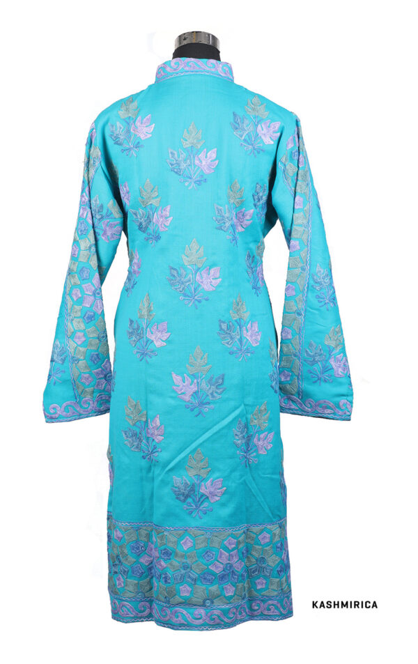 Sky-blue colour kashmiri jacket