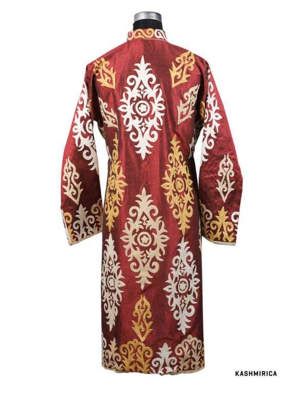 maroon colour kashmiri jacket