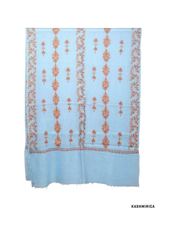 Sky blue-woolen shawl