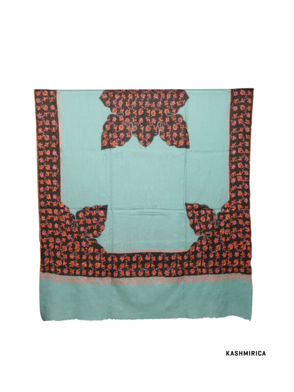 Sea Green Kashmiri Shawl [Fine Wool]