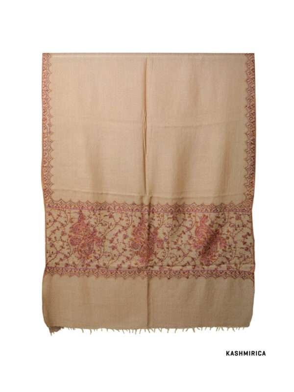 Zu Natural Color Kashmiri Stole [Fine Wool]