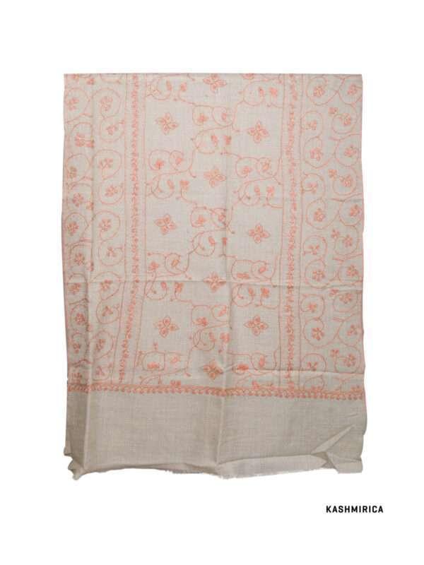 Ku Natural Colored Kashmiri Stole [Fine Wool & Sozni]