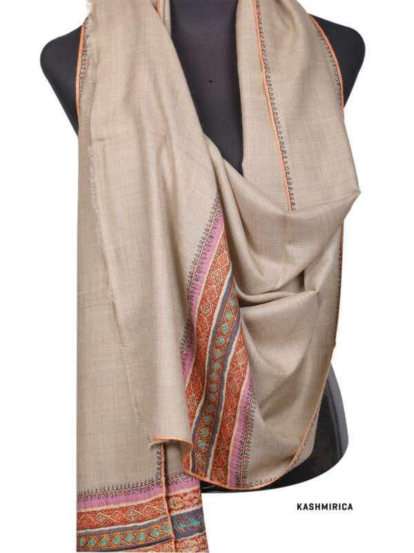 Natural Kashmiri Shawl [Fine Wool]