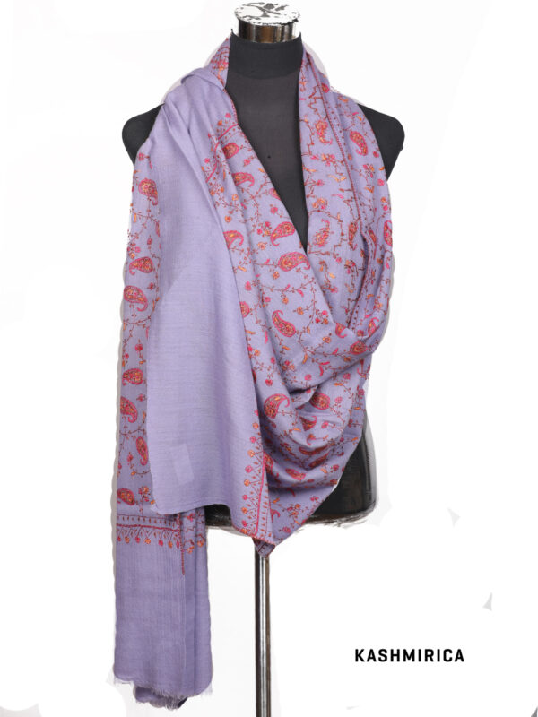 Kashmiri Purple Stole