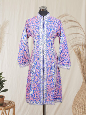 voilet colour kashmiri jacket