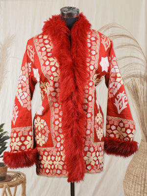 red colour jacket