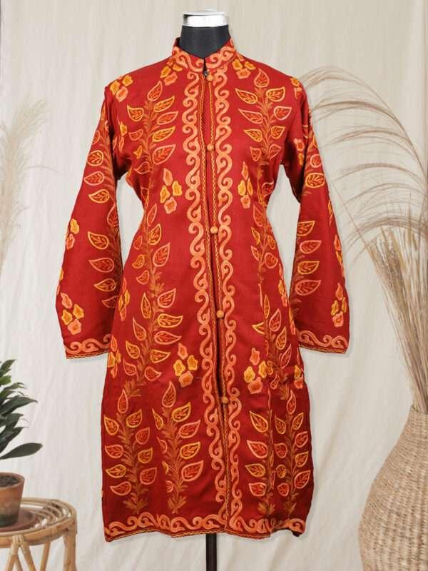 Maroon kashmiri jacket