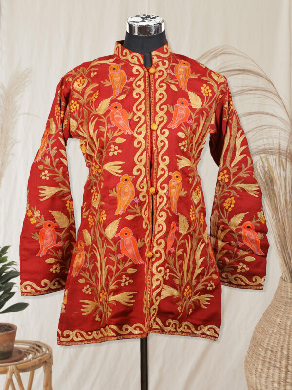 maroon colour jacket