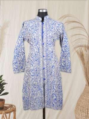 blue colour kashmiri jacket