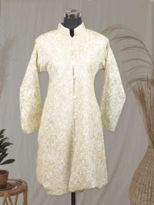cream colour jacket