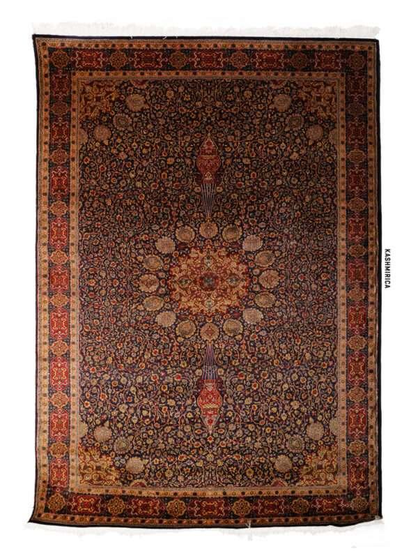 Hija Kashmiri Carpet White Background