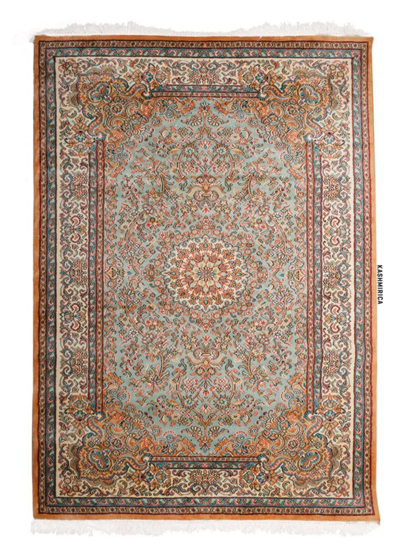 Keya Kashmiri Carpet White Background