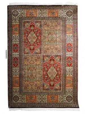 Iara Kashmiri Carpet White Background