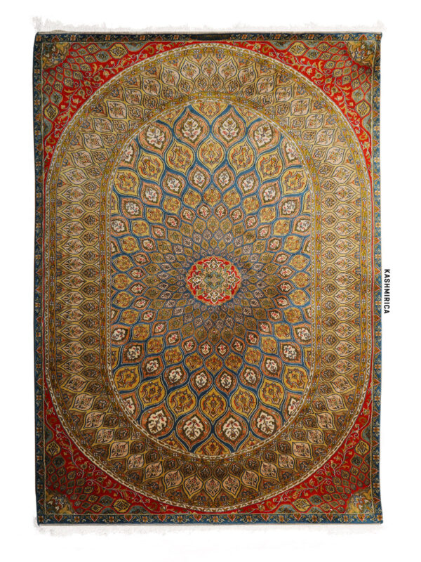 Leya Kashmiri carpet White Background