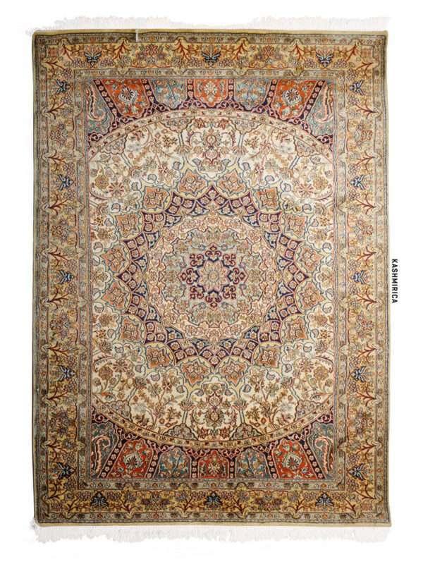 Lila Kashmiri Carpet White Background