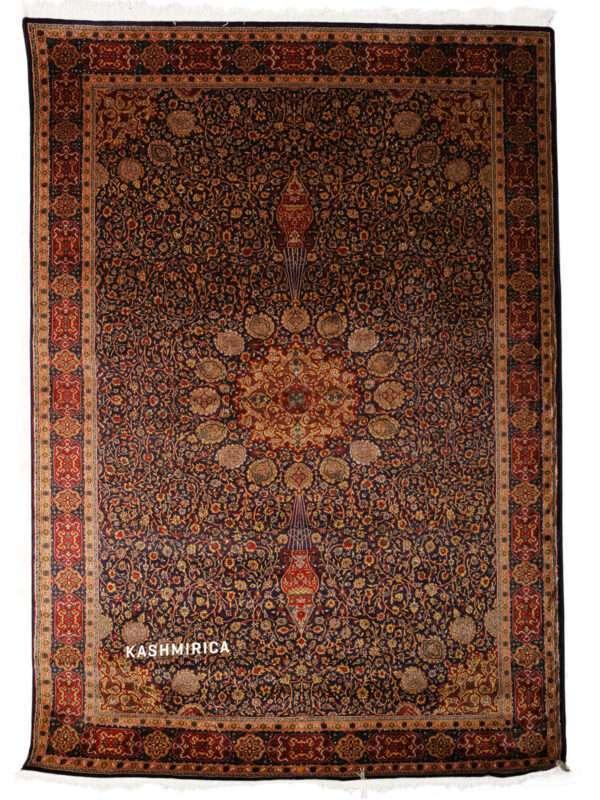 Ayat Kashmiri Carpet White Background