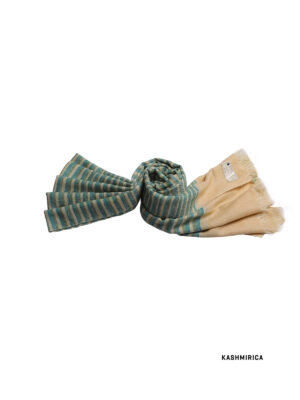 seafoam green stripped pashmina stole