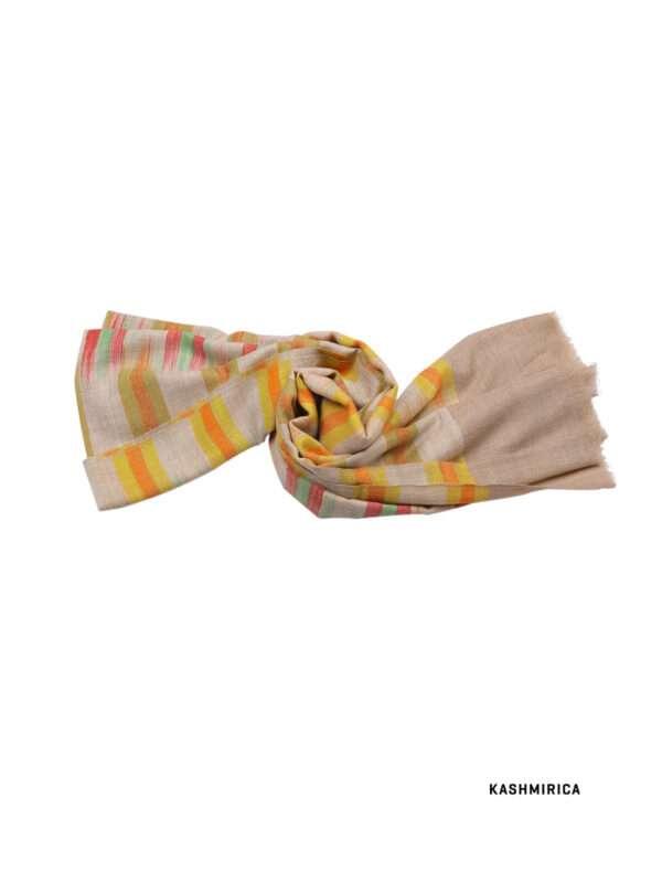 Yellow check pashmina shawl