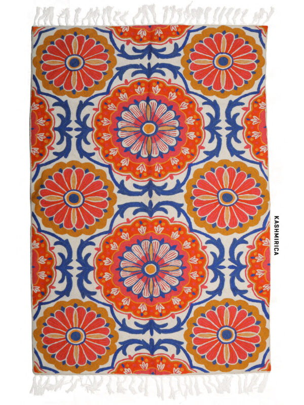 orange and blue colour wall hanging