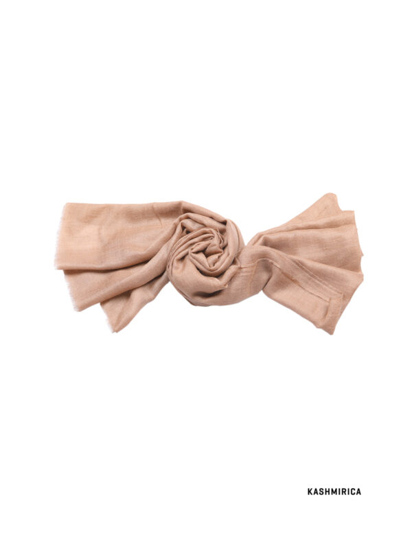 light pink pashmina stole with white background