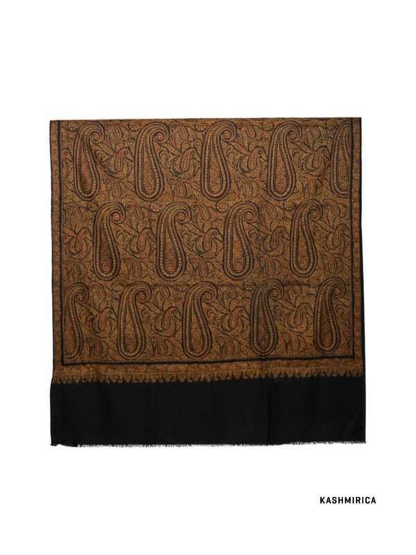 Black -Pashmina shawl with black background
