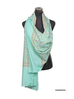 Arctic Blue pashmina shawl
