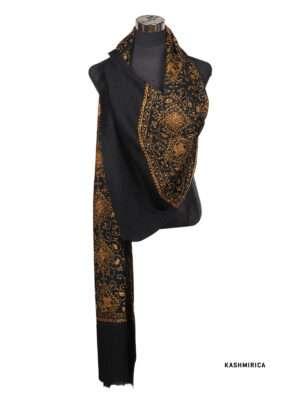 Maha-Black Pashmina Shawl