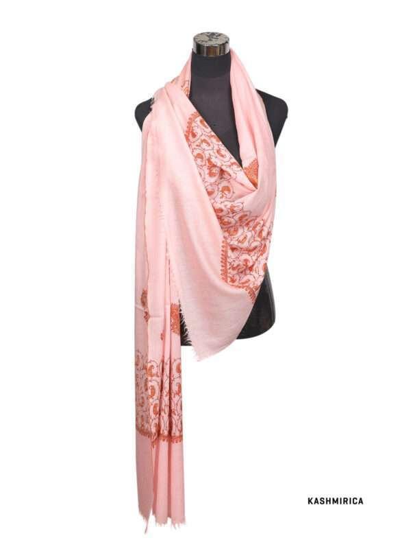 peach colour pashmina shawl